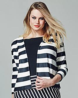 Simply Be Crop Scuba Stripe Jacket