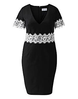 Paperdolls Lace Waist Short Sleeve Dress