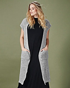 Simply Be Knitted Longline Waistcoat