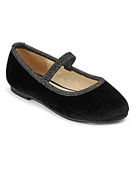 TKD Girls Velour Ballerina Shoes