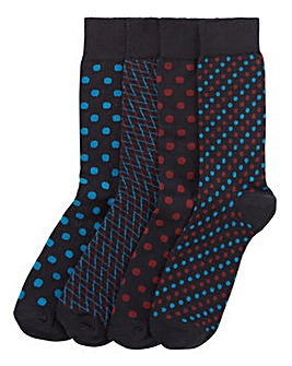 Capsule Pack of 4 Formal Socks