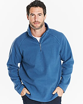 Capsule Storm Blue Zip Neck Fleece