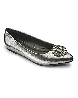 Sole Diva Jewelled Shoes EEE Fit