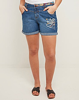 Joe Browns Embroidered Denim Shorts