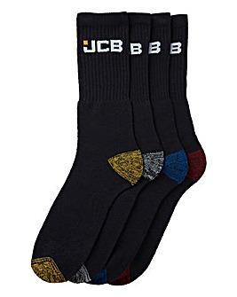 JCB 8PK Work Wear Socks