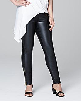 Stretch PU Zip Trousers Regular