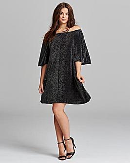 AX Paris Lurex Bardot Dress