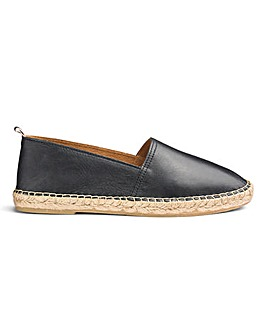 Jacamo Premium Leather Espadrilles