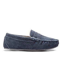 Suede Saddle Loafer Slipper
