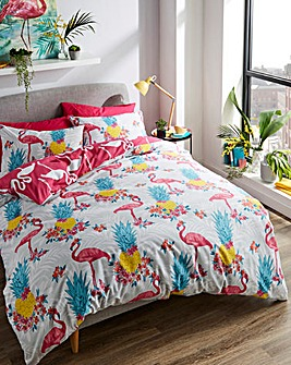 Tropical Flamingo Duvet Cover Set