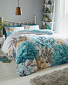 Padmi Teal Duvet Cover Set