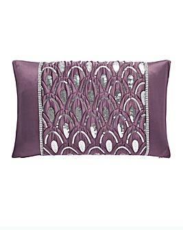 Crystal Amethyst Boudior Cushion
