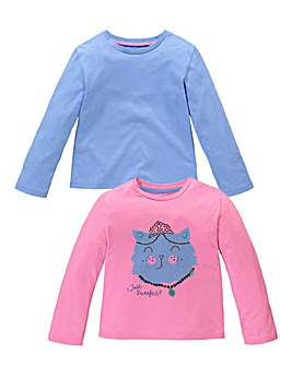 KD MINI Girls Pack of Two Tops (2-7 yrs)