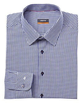 Eterna Mighty Gingham Jaquard Shirt