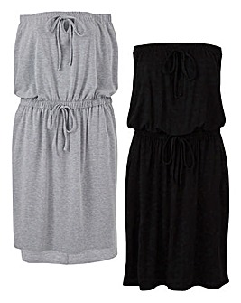 Pack of Two Bandeau Dresses