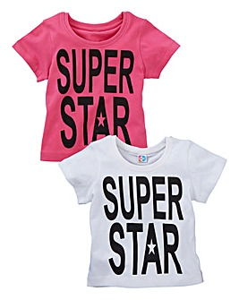 KD BABY Girls Pack of Two T-Shirts