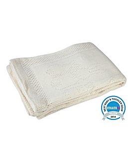 Clair De Lune Brushed Cotton Cot Blanket