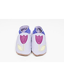 Hippychick Baby Shoes Lilac Tulips