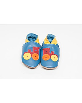 Hippychick Baby Shoes Blue Trains