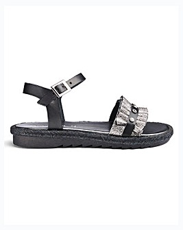 Heavenly Soles Ruffle Sandals E Fit