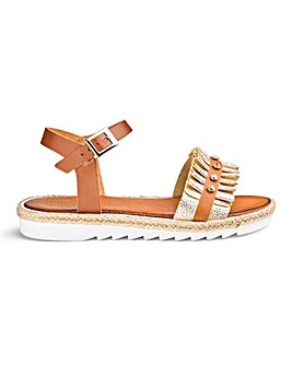 Heavenly Soles Ruffle Sandals EEE Fit