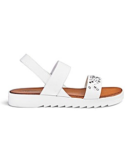 Heavenly Soles Stretch Sandals E Fit