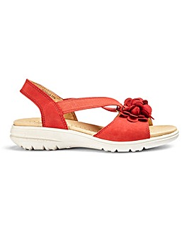 Hotter Hannah Nubuck Sandals EE Fit