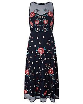 Monsoon Elsie Embellished Midi Dress