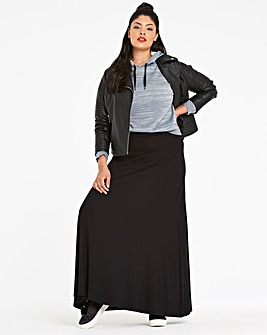 Petite Stretch Jersey Maxi Skirt