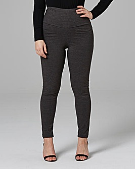 High Waisted Plain Leggings Long
