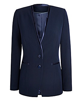 JOANNA HOPE Satin Trim Tailored Jacket