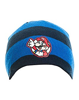 Super Mario Bros Striped Mario Beanie
