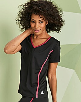 Sports Contrast Piped Tee