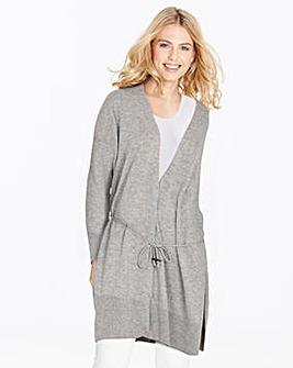 Wool Mix Drawstring Cardigan