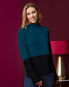 Boucle Colour Block Jumper