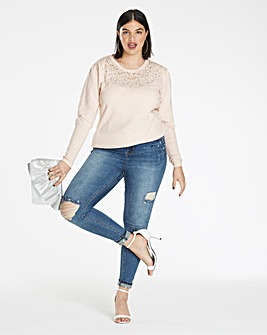 Embellished Front Jumper