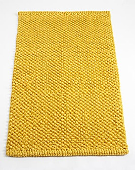 Cotton Bobble Bath Mats - Ochre