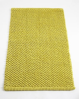 Cotton Bobble Bath Mats - Apple Green