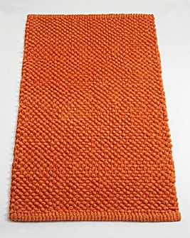 Cotton Bobble Bath Mats - Tangerine