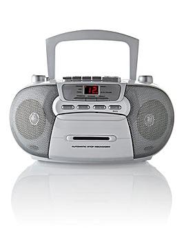 CD Radio Cassette White/Silver