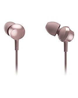 Panasonic In Ear Headphones Rose Gold