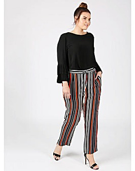 Lovedrobe GB striped crepe trousers