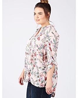 Lovedrobe GB pink floral print shirt