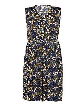 Blue Vanilla Curve Floral Print Dress