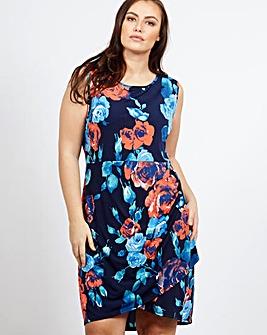 Blue Vanilla Curve Pleat Detail Dress