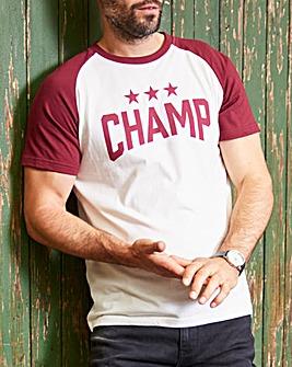 Jacamo Champs Graphic T-Shirt Long