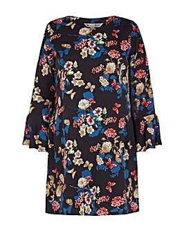 Yumi Curves Butterfly and Flower Print T