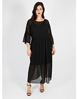 Lovedrobe GB black dress with spot print