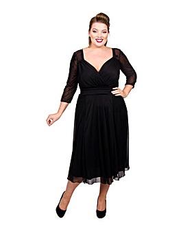 Scarlett & Jo Velvet Midi Marilyn Dress