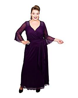 Scarlett & Jo Front Drape Maxi Dress